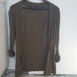 Express olive green cardigan